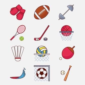 Значок спортивный символ иллюстрации современный