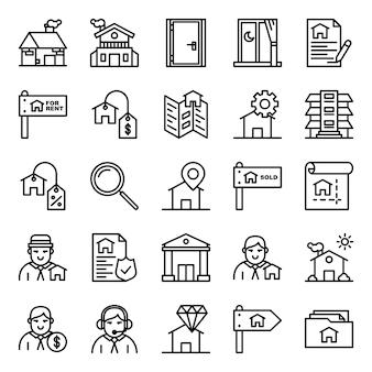 Пакет иконок недвижимости