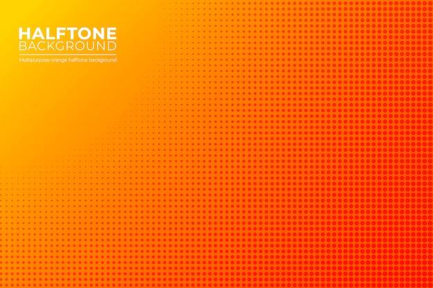 オレンジ色のハーフトーンの背景。