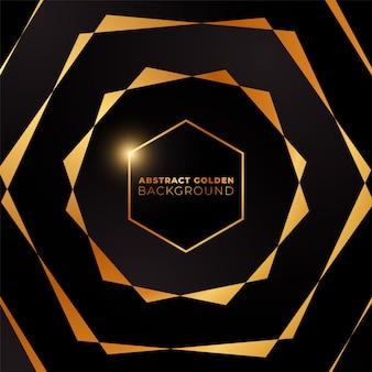 六角形の金色の背景。黄金色の抽象的な六角形の背景。