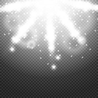Блестящие солнечные лучи солнечных лучей