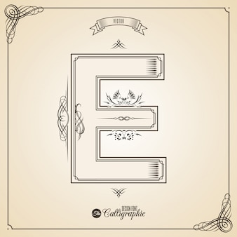 枠線、フレームの要素と招待状のデザインシンボルの書道の写真。