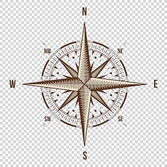 Вектор компас. высокое качество иллюстрации. старый стиль.