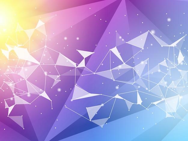 抽象的なポリゴンの幾何学的な背景。ベクトルとイラストカラーポリゴンの背景