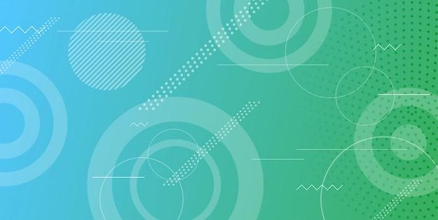 グラデーションベクターの幾何学的図形の背景