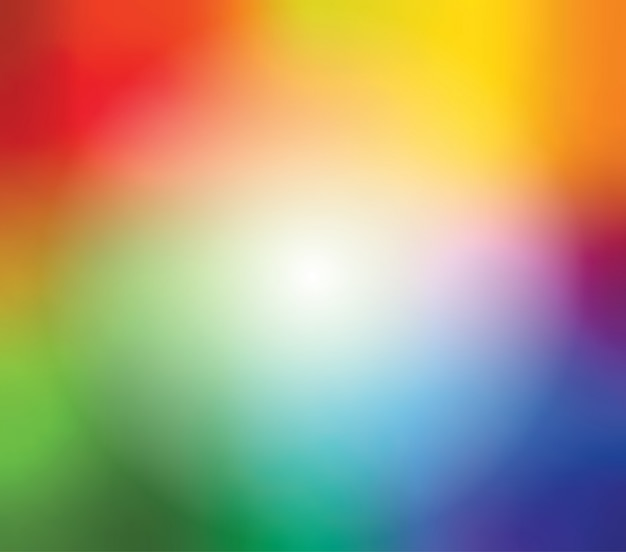 明るい虹色の抽象的なぼやけたグラデーションメッシュバックグラウンド