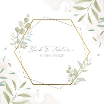 Свадебное приглашение с цветочной рамкой