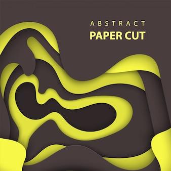Фон с черным и желтым цветом бумаги вырезать