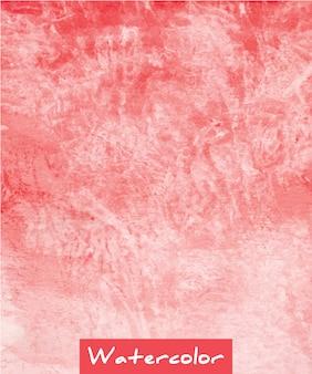 赤の抽象的な水彩手描きの背景