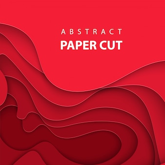 Фон с глубоким красным цветом бумаги вырезать