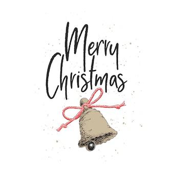Ручной обращается эскиз рождество и новогодний праздник