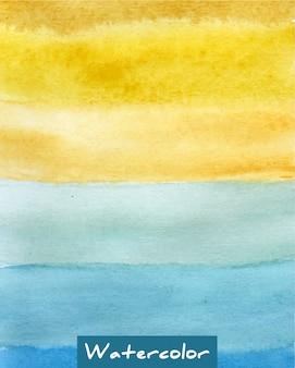 多色ストライプの水彩画の背景