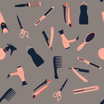 理髪店のシームレスパターン