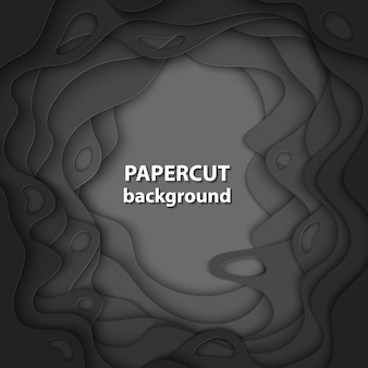 Векторный фон с черным цветом бумаги вырезать