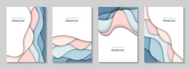 カラフルな紙のカットと垂直方向のベクトルの背景