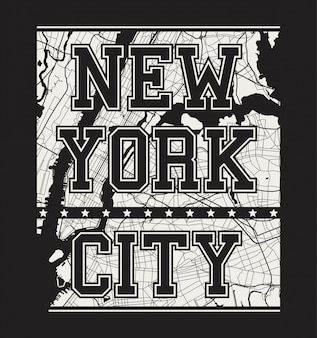 街の通りとニューヨークのティープリント