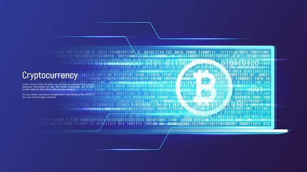 Криптовалюта и концепция цифровых денег. векторная иллюстрация