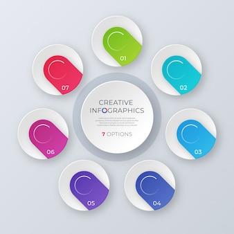 現代的なベクトル円グラフテンプレート、インフォグラフィックデザイン