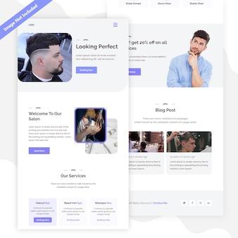 Целевая страница парикмахерской для мужчин