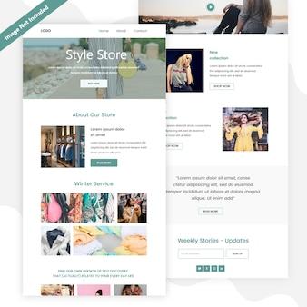 Женская одежда зимняя распродажа, посадочная страница