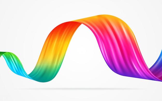 カラフルな流れの抽象的な背景のベクトル図です。