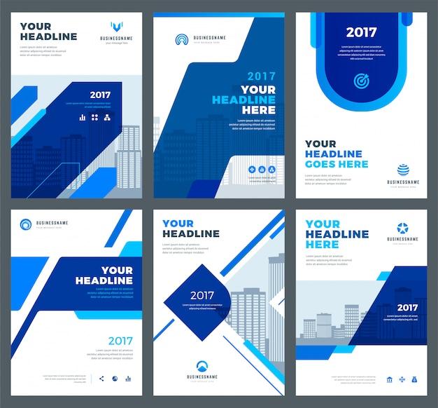 Синяя обложка для годового отчета.