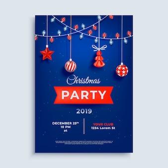 Шаблон плаката макет с рождеством