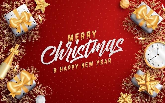 Счастливого рождества макет социальных медиа баннер или флаер шаблон.