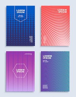 Охватывает современный абстрактный дизайн шаблоны набора.