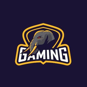 分隊ゲーム用の素晴らしい象のロゴ