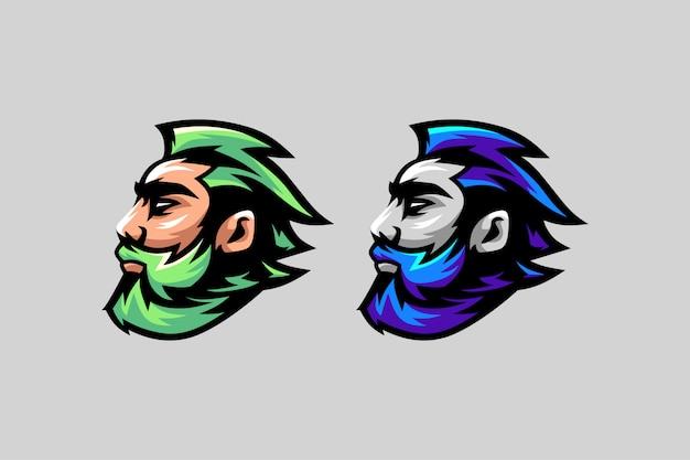 ひげのロゴ素晴らしいロゴオプションの色