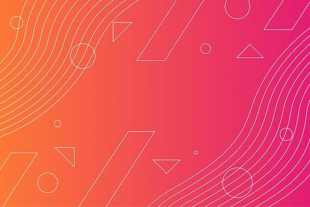 Красный градиент геометрический фон строки