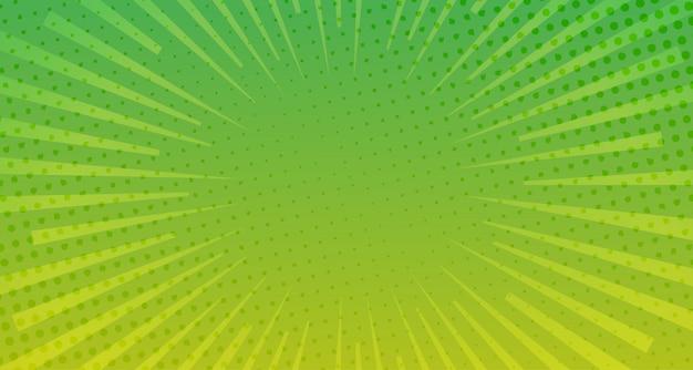 緑のハーフトーンコミック背景