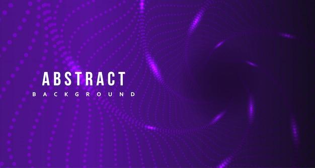Абстрактная фиолетовая точка с светящимся дизайном фона