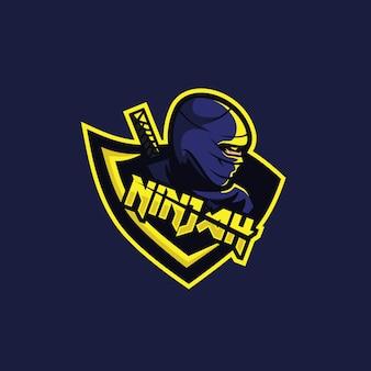 チームゲームの忍者ロゴ