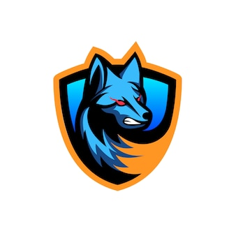 怖いオオカミのベクトル図