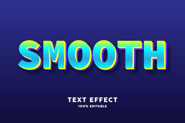 Зеленый голубой свежий текстовый эффект