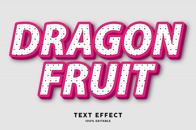 Текстовый эффект в стиле дракона