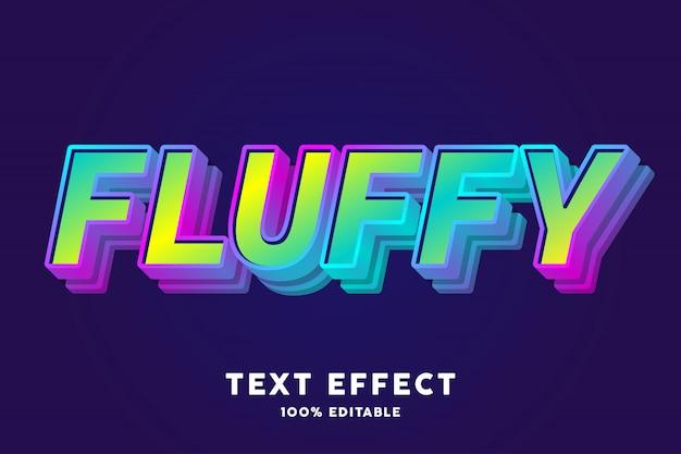 Пушистый текстовый эффект конфеты
