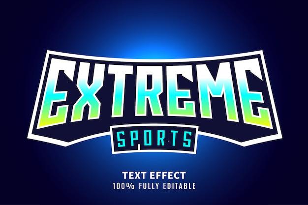 Экстремальный спортивный текстовый эффект