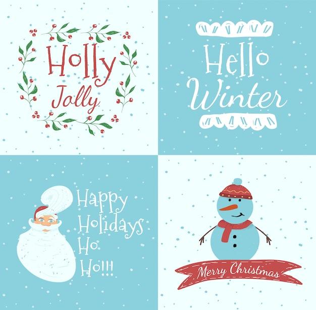 Набор рождественских поздравительных открыток