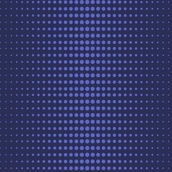 さまざまなサイズのドットと青い点線の背景