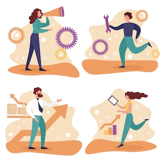 Установить бизнес персонажей. служба технической поддержки