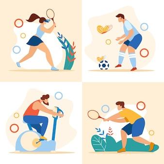 サマータイムスポーツアクティビティセットスポーツエクササイズ