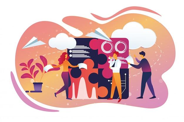オフィスビジネスとチームワークプロセスライフスタイル
