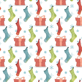 Рождественские и новогодние фоновые рождественские чулки