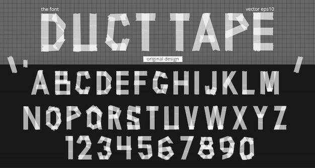 Реалистичные клейкой лентой алфавит шаблон