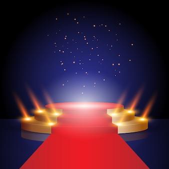 授賞式のステージレッドカーペット