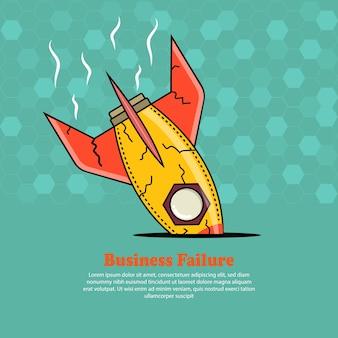 ビジネスマンとロケット墜落