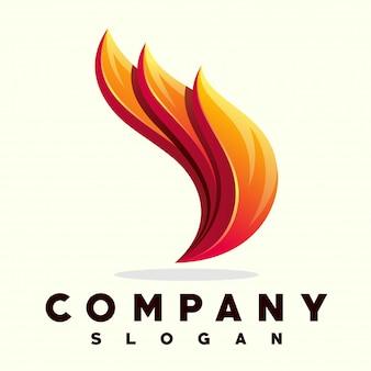 Огонь пламя дизайн логотипа